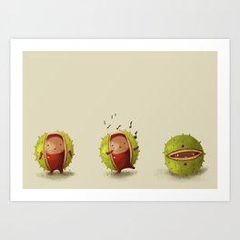chestnut singing Art Print