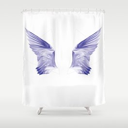 Crystal Wing by Fernanda Quilici Shower Curtain