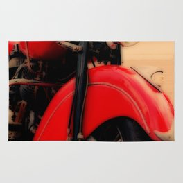 Motorcycle-Red-Poster Rug