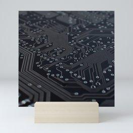 Electronic circuit board Mini Art Print
