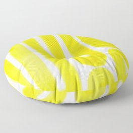 yellow subway Floor Pillow