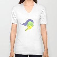 little mermaid V-neck T-shirts featuring little mermaid by Soju Shots
