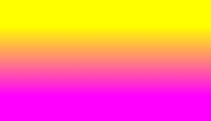 Neon Yellow and Bright Hot Pink Ombré  Shade Color Fade Pillow Sham