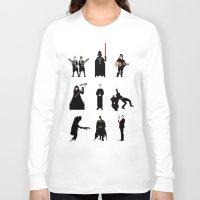 men Long Sleeve T-shirts featuring Men in Black by Eric Fan