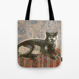 Cat on the sofa Tote Bag