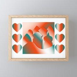 Fiery City Framed Mini Art Print