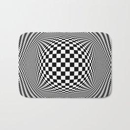 Optical Illusion Checkers Chequeres  Bath Mat