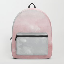 Touching Blush Gray Abstract Painting #1 #ink #decor #art #society6 Backpack