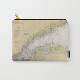 Vintage Map of The Long Island Sound (1934) Carry-All Pouch