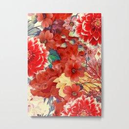 flowers 29 #flora #flowers #pattern Metal Print