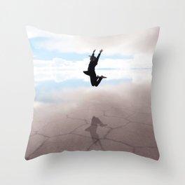 Abstract Beach | Jump for Joy Dramatic Happy Sunset Bright Mood Salt Flats Throw Pillow