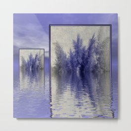 grass over water Metal Print