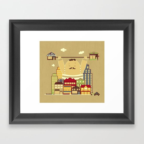 Shoplifter! Framed Art Print