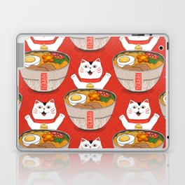 Liter of Ramen. Japanese soup and Manekineko cat. Laptop & iPad Skin