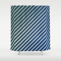 stripes Shower Curtains featuring Stripes by David Zydd