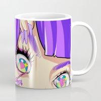 baphomet Mugs featuring WARPAINT by OSKAR V.