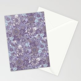 Hellebore lineart florals | soft winter Stationery Cards