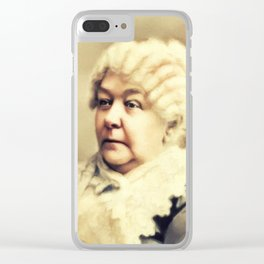 Elizabeth Cady Stanton, Suffragette Clear iPhone Case