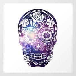 Mexican Skull Space V2 Art Print