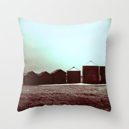 Silent Silos Throw Pillow