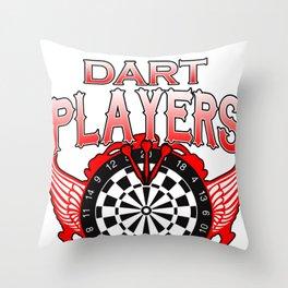 Darts Players Game Men Women Arrows Dartboard Gift Throw Pillow