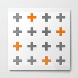 Swiss cross / plus sign Metal Print