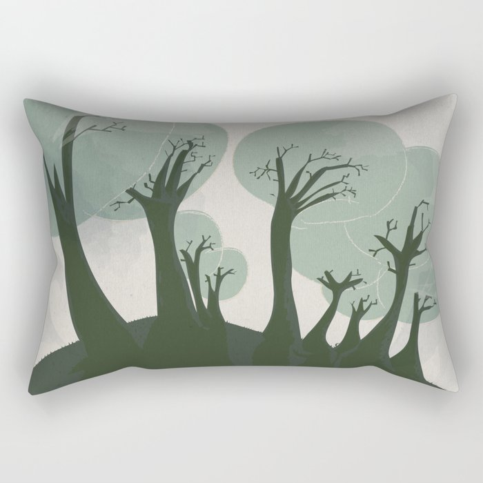 Trees 3 Rectangular Pillow