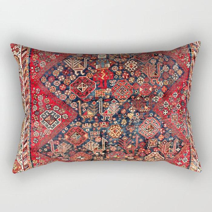 Qashqa'i Fars Southwest Persian Nomad Rug Print Rectangular Pillow