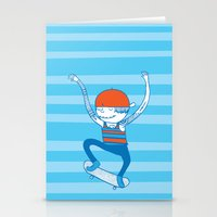 skate Stationery Cards featuring Skate by Devin Soisson