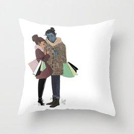 Ronnie and Elia Throw Pillow
