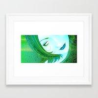 cyberpunk Framed Art Prints featuring Cyberpunk by Sandra Höfer