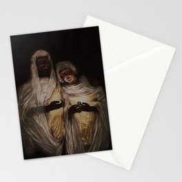 The Apparition renaissence portrat painting Stationery Cards