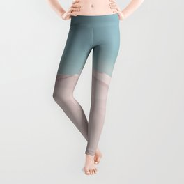 Surreal Pastel Desert Travel Art Leggings