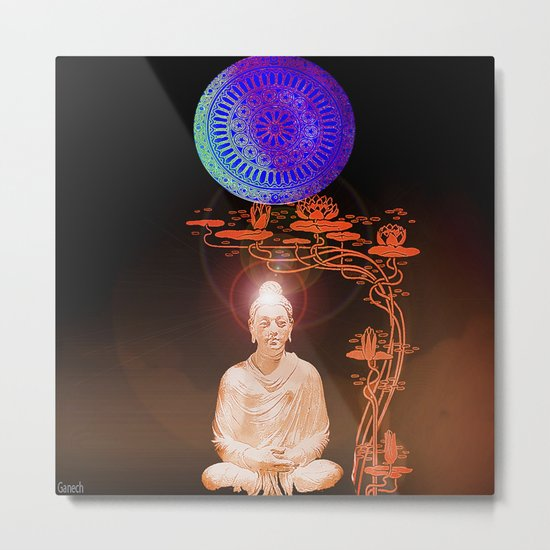 Buddha's illumination Metal Print