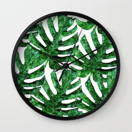 Monstera Pattern V3 Oil Painting #home #fashion Wall Clock