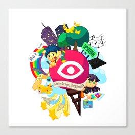Designn Illustrated Canvas Print