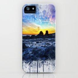 Ocean Sunset Painting iPhone Case