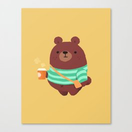 coffee bear Canvas Print