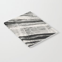 Abstract Marble - Black & Cream Notebook