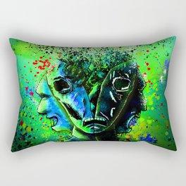 Split-face Green Rectangular Pillow