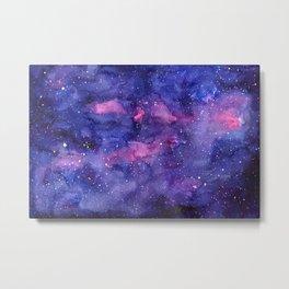Galaxy Pattern Watercolor Metal Print