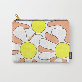 Wild flowers in coral Carry-All Pouch
