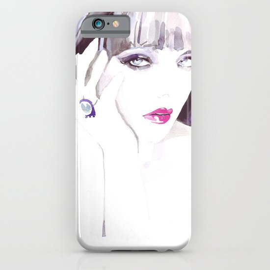 Fashion illustration in watercolors and ink iPhone & iPod Case