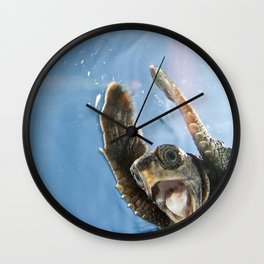 Screaming Turtle Wall Clock