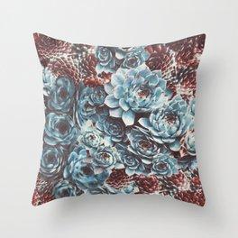 Sempervivum Succulents Throw Pillow
