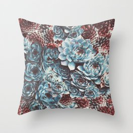 Sempervivum Succulents Throw Pillow