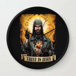 Trust in Jesus Wall Clock