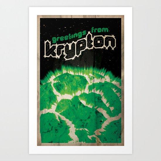 Greetings from Krypton | Defunct Planets Series No. 2 Art Print