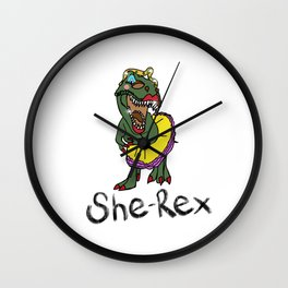 She Rex Wall Clock