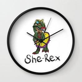 She Rex Wall Clock